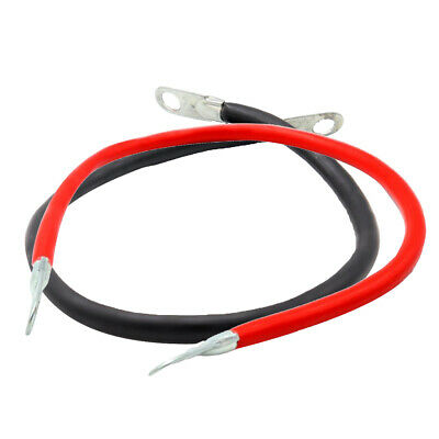 2x Universal Car Boat Battery 5 AWG Gauge Cable Power Inverter Wires 50cm