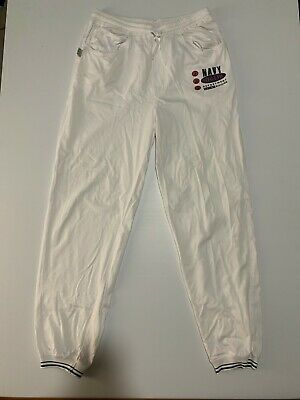 Vintage JAG Tracksuit Pants Cuffed - White - L