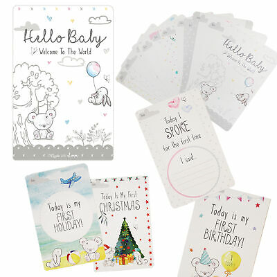 30 Unisex Baby Memorable Moment Milestone Cards