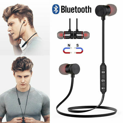 Wireless Bluetooth Sport Headphones Magnetic Earphones In-Ear Headset Waterproof