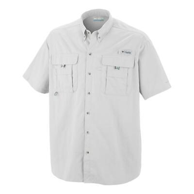 74a3407ded0 New $60 Columbia mens Distant Water PFG fishing vented short sleeve shirt  White