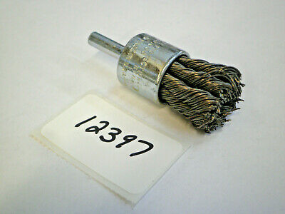 "3/4"" Knot Wire End Brush, .020"" Steel Fill **New** Pic#12397"