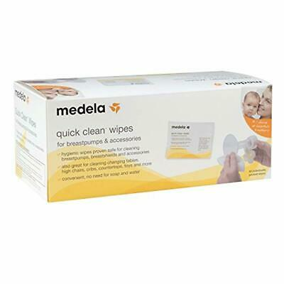 Medela Quick Clean Breast Pump and Accessory Wipes, 40 Individually Packed Wipes