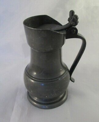 A Small Vintage French Pewter Measure - Kitchenalia