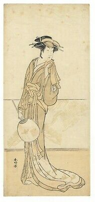 Original Japanese Woodblock Print, Katsukawa, Actor, Kabuki Female Role, Ukiyo-e