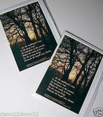 """INSPIRATIONAL CARDS X 48  JUST £9.99, 5"""" x 7"""" ideal as sympathy cards,  (B467"""