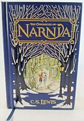 The Chronicles of Narnia Barnes & Noble Leather Bound C. S. Lewis AS NEW Book