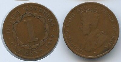 G15898 - British Honduras (Belize) One Cent 1919 KM#19 George V.