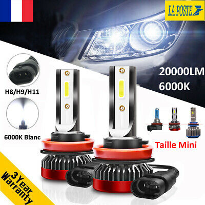 Globe 110W 20000LM H8 H9 H11 LED Ampoule Voiture Feux Lampe Kit Phare 6000K