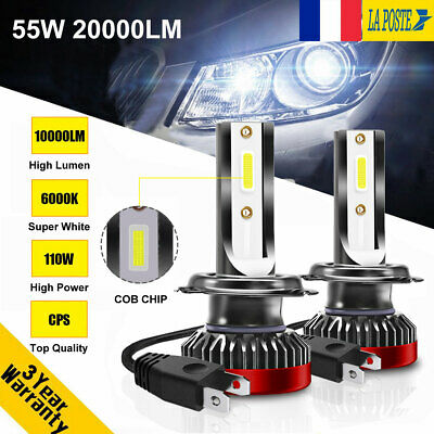 110W 20000LM H7 LED Ampoule Voiture Feux Lampe Kit Phare Remplacer Xénon 6000K