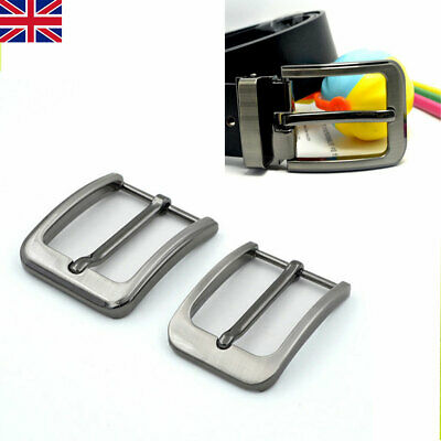 UK 1PCS Zinc Alloy Pin Buckle for Men Leather Belt Spare Replacement 35mm 40mm