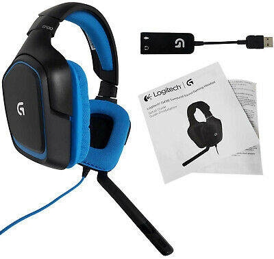 Logitech G430 Stereo Gaming Wired Headset PC Laptop USB 3.5mm Noise-cancelling