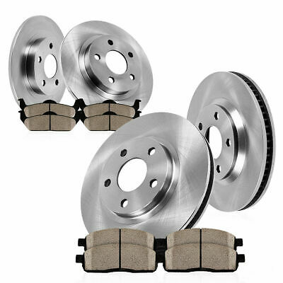 REAR Brake Disc Rotors Ceramic Pads for 2014-2016 Kia Soul