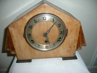 Art Deco, German ? Westminster Chimes Mantle Clock, Working, For Restoration.