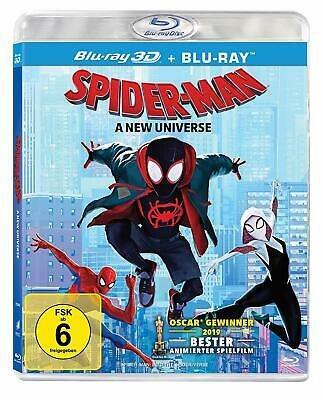 Spider-Man Into the Spider-Verse 3D+2D blu-ray Region Free  Sealed english audio