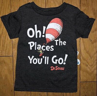 Dr. Seuss Toddler Boys 2 4 2T 4T Short Sleeve Shirt Tee Top Cat in the Hat