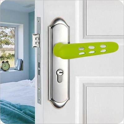 Useful Home Silicone Handle Protective Childs Kids Safety Doorknob Cover Safe YO