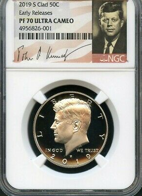 2019 S Clad Kennedy Half Dollar Early Releases NGC PF70 Ultra Cameo Signature