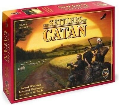 The Settlers of Catan- Catan Board Game Award Winning New Gift Board Party Game