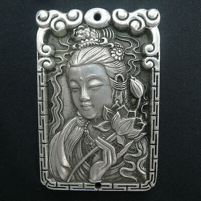 Charm Crafts Necklace Pendants Jewelry Natural Ancient Silver Hand Relief Beauty