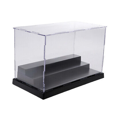 3 Steps Acrylic Display Case Box Dustproof Protection for Action Figure Doll