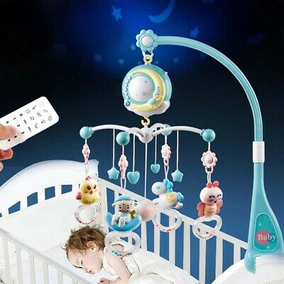 Baby Crib Mobiles Bed Bell Holder Arm Bracket Musical Box Lullaby Sounds Cot Toy