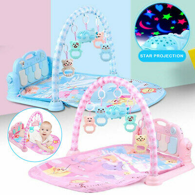 3 in 1 Plastic Baby Light Musical Gym Play Mat Lay Play Fitness Fun Piano Toy