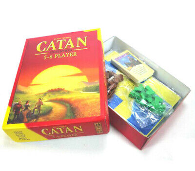 New Settlers of Catan Board Game 5th Edition 5-6 Players Extension Gift