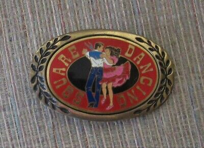 Vintage Solid Brass Heritage Country Square Dancing Belt Buckle