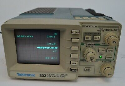 Tektronix 222 Digital Storage Dual Channel Oscilloscope 10MHz w/ Original Case