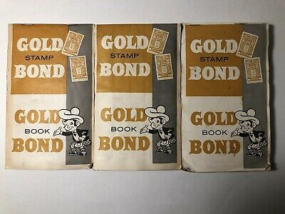 Vintage Gold Bond Trading Stamps Book Complete, great collectible memento!