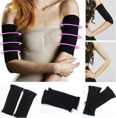 1Pair Arm Slimming Compression Shaper Helps Tone Shape Upper Arms Sleeve Body jp