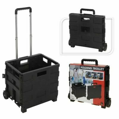Home&Styling Trolley Aluminium with Folding Crate PP Transport Hand Truck