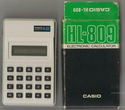 VINTAGE HL-809 Casio HL-809 Working Electronic Calculator Boxed +instructions