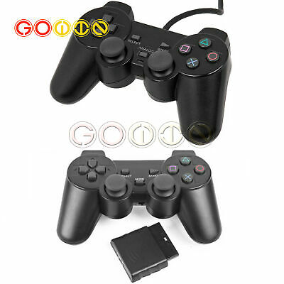 Wired Wireless Dual Shock Controller for PS2 PlayStation Joypad Gamepad receiver