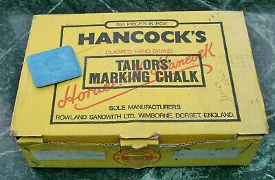 Vintage Hancock's Blue Square Tailors Chalk 1/2 Full Wholesale Box Approx. 50pc