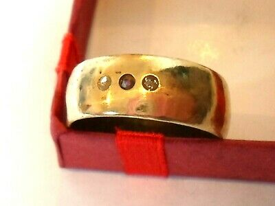 DETECTOR FIND&POLISHED,13-15th CENTURY MEDIEVAL WEDDING RING WITH REAL DIAMONDS