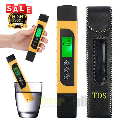 3 in 1 Digital Water Quality Tester LCD PPM TDS EC Water Purity Meter Filter+Bag