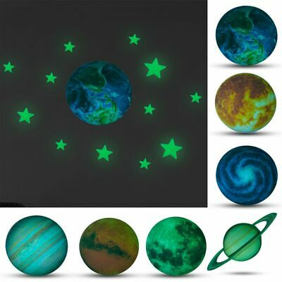 Useful DIY Glow In The Dark Luminous Stars And Moon Planet Space Wall Stickers