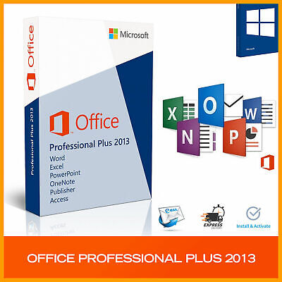 Microsoft Office 2013 Professional Plus -Download & Key 32/64 Bit