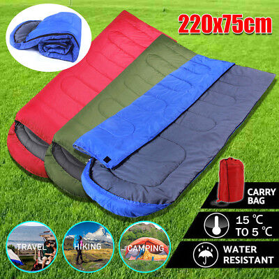 4 Season Waterproof Outdoor Camping Hiking Case Envelope Sleeping Bag UKU2