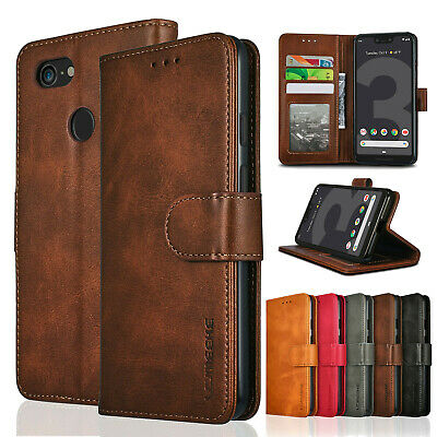 For Google Pixel 3 XL 3A XL 4 Leather Flip Case Card Wallet Magnetic Stand Cover