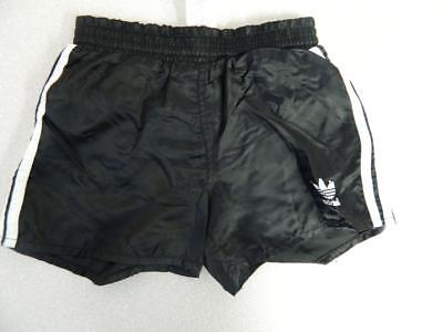 Rare Vintage 1980's Original Adidas Sprinter Shorts Nylon Shiny Glanz D128 GB25