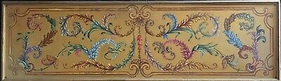 Very Large French Rococo Style Painted Elaborate Gilt Panel - From Paris Theatre