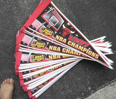 Vintage Chicago Bulls 1997 Champs Pennant Lot (10) Brand New Condition