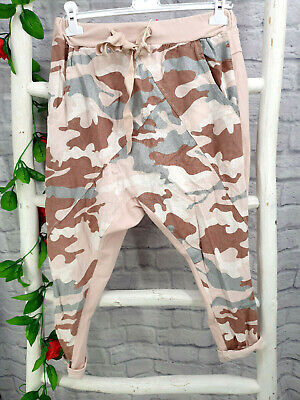 💋Coole Camouflage Haremshose Baggy Style Leinenmix Gr.36-40/42