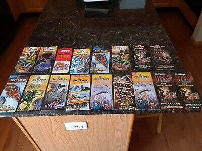 six flags magic mountain park map lot  lot of 16