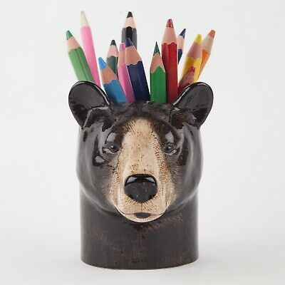 Quail Ceramics - Black Bear  Pencil Pot