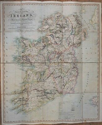 A New And Improved Map Of Ireland By James Palmer, Published 1830.