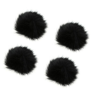 4x Artificial Fur Wind Cover Microphone Furry Windscreen Muff 1cm Diameter